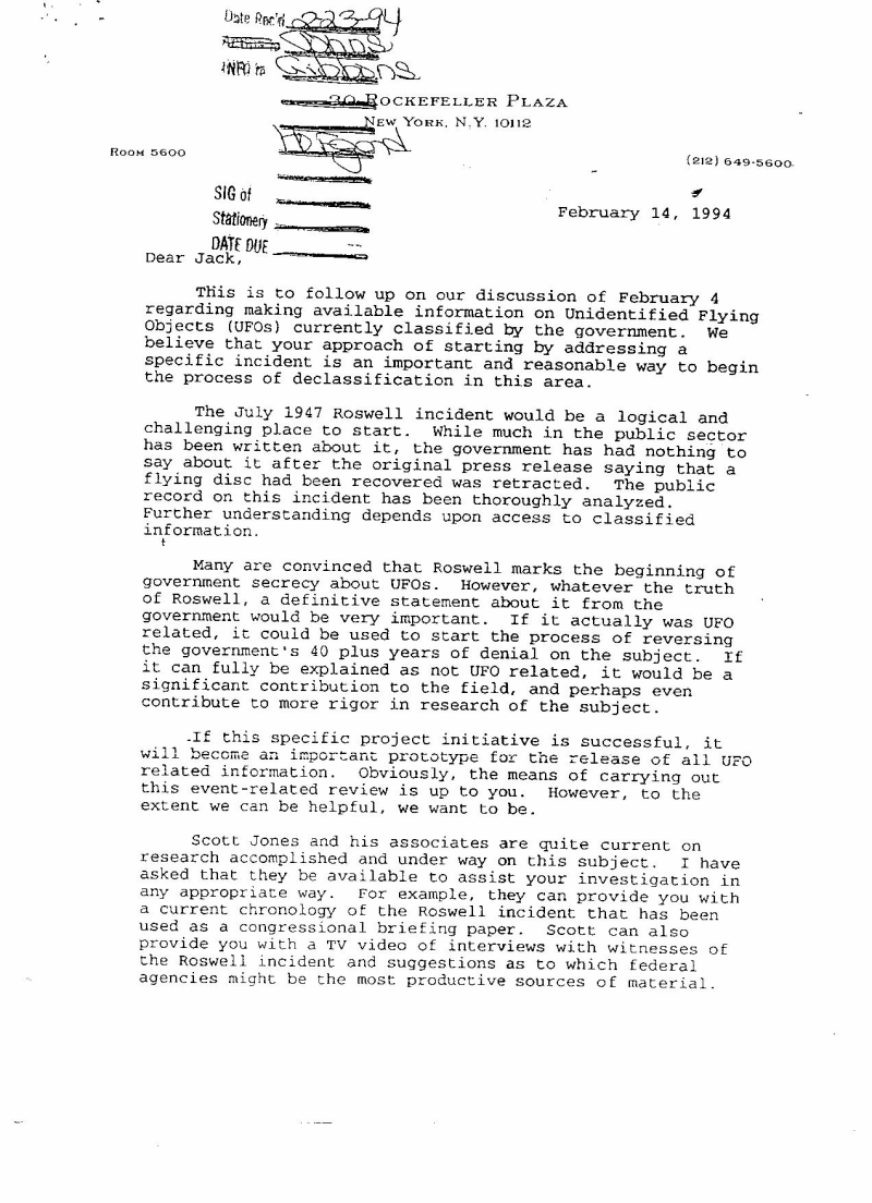 Bill Clinton And The UFO Crash At Roswell