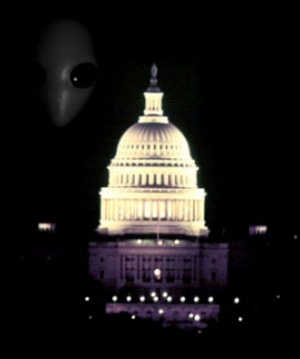 Alien over the Capitol Building